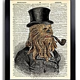 Victorian Chewbacca Star Wars Art Print