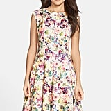 Gabby Skye Floral Print Scuba Fit & Flare Dress ($98)