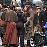 Josh Hartnett wore Victorian clothes during production of Penny Dreadful in Dublin, Ireland, on Tuesday.