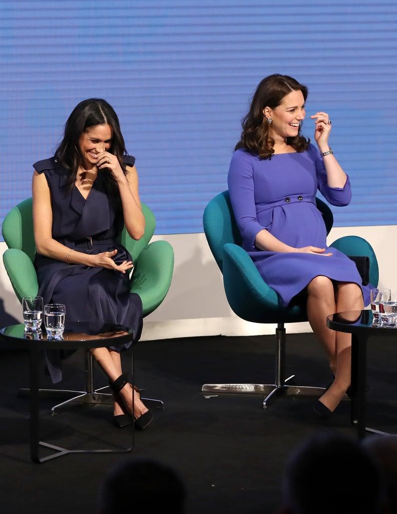 Kate Middleton and Meghan Markle at Royal Foundation Forum