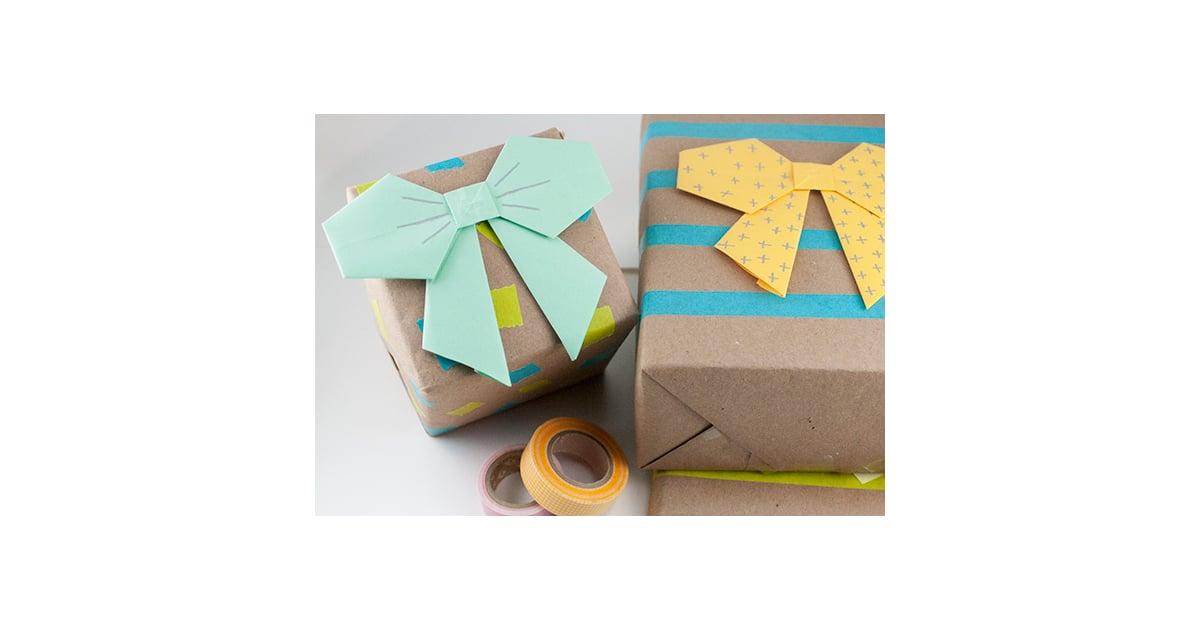 Origami Bows Gift Wrap Diy Gift Wrap Popsugar Smart Living Photo 19