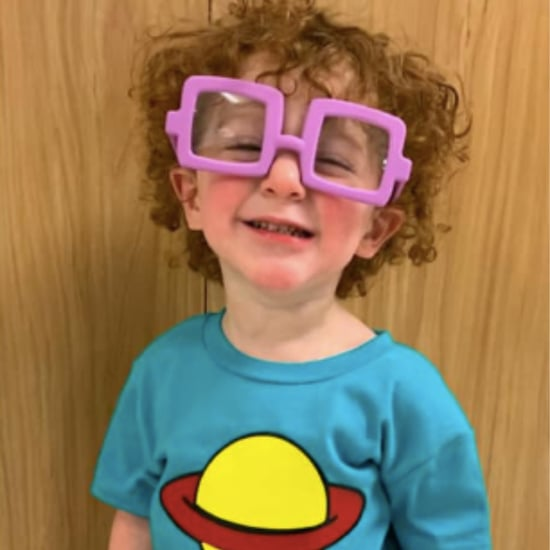 Toddler Dressed as Chuckie Finster From Rugrats
