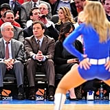 Jimmy Fallon Makes Funny Faces at a Knicks Game With Tracy Morgan!
