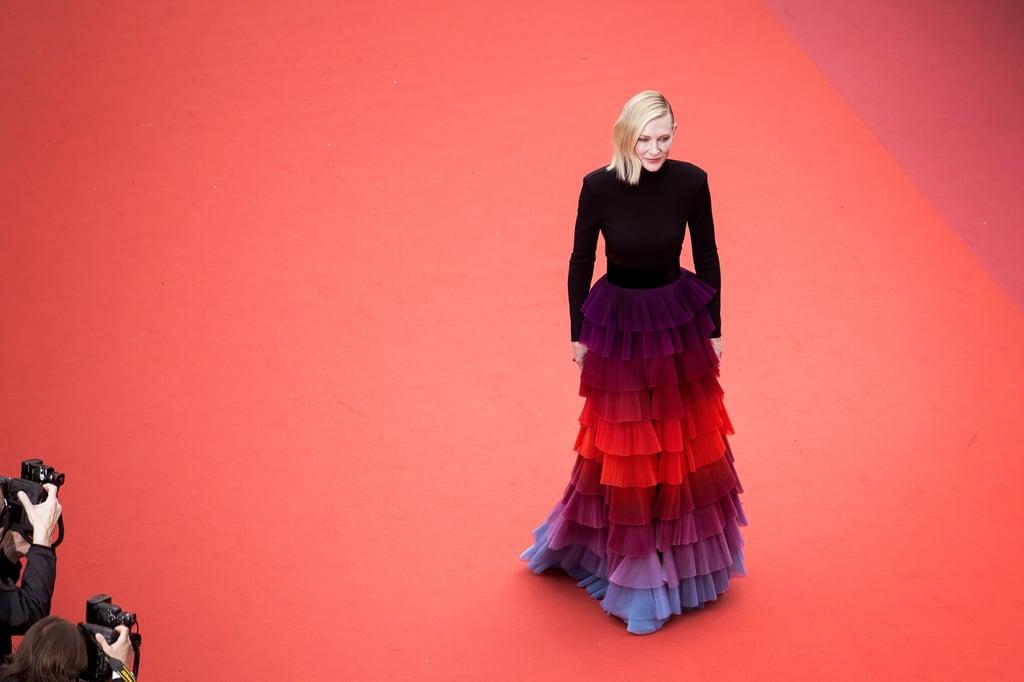 Cate Blanchett Rainbow Givenchy Dress Cannes 2018