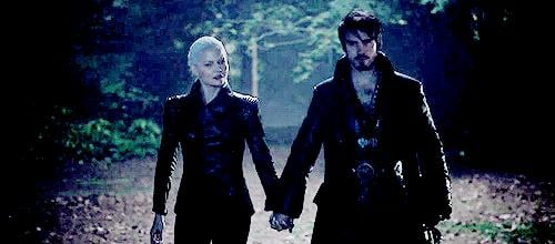 She makes Hook another Dark One by binding his soul to the sword.