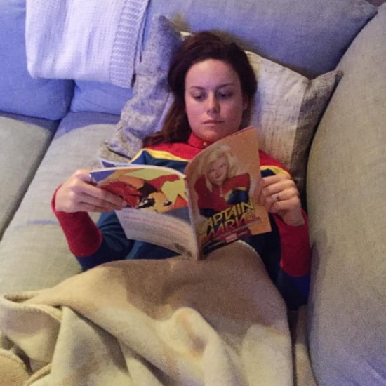 Brie Larson Reading Captain Marvel Instagram August 2016