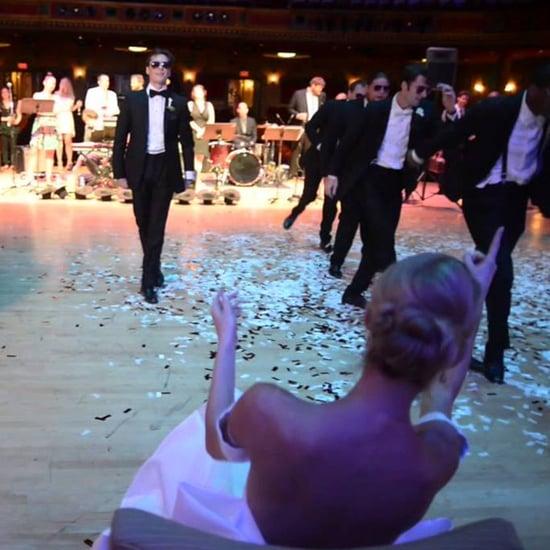 Groom Dancer Surprises Ballerina Bride With Dance at Wedding