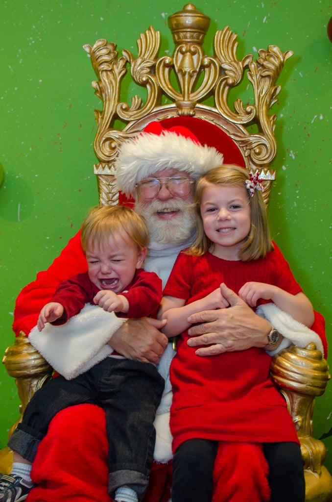 We know which kid has her eye on the holiday card prize, and which one just really needs his mom at this difficult time.