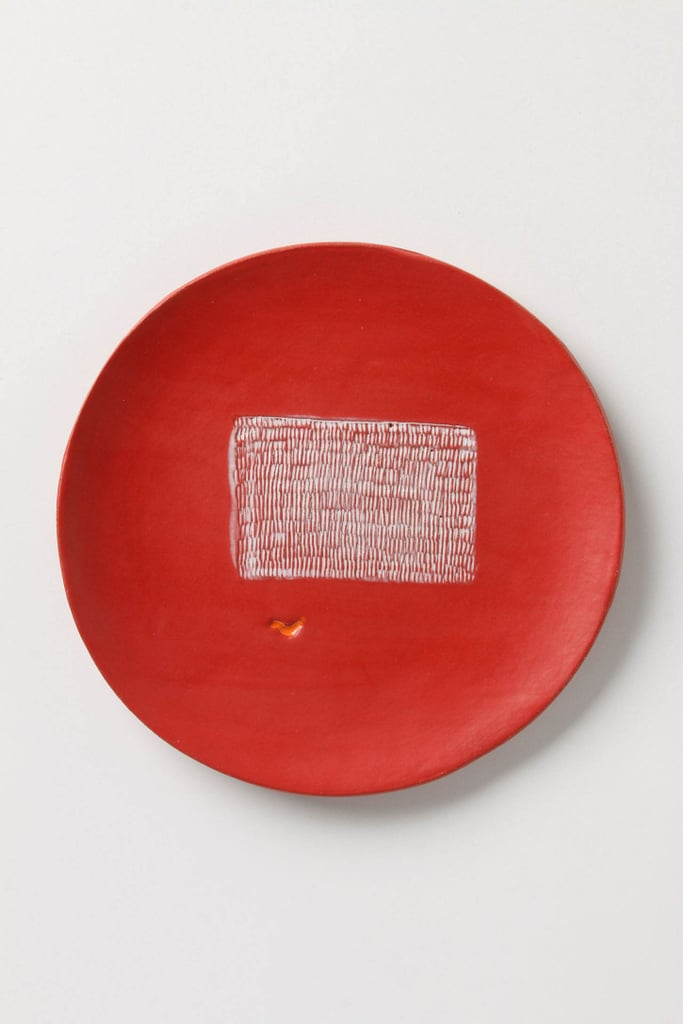 The Artful Dinner Plate ($98) from ceramicist Lisa Neimeth showcases a hand-etched image.