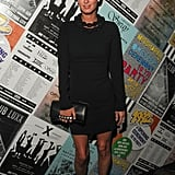Nicky Hilton's Valentino clutch was an edgy complement to her LBD look.