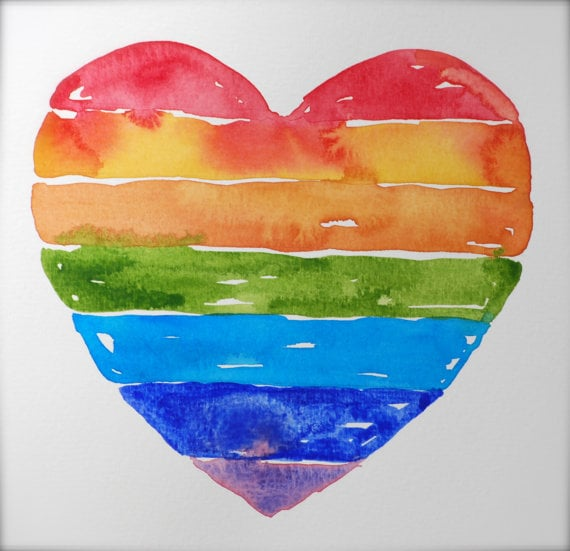 Inspire your little one to paint their own rainbow heart ($25) with this kid-friendly piece.