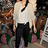 Afterward, Kristen changed into a more casual ensemble for the Mulberry afterparty.