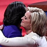 Ann Romney and Michelle Obama Hug It Out at Debate