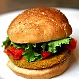 Spicy Chickpea Barley and Quinoa Veggie Burger