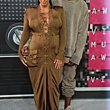 At the 2015 MTV VMAs when Kim showed off her curves, but Kanye seemed ready for a relaxing night.