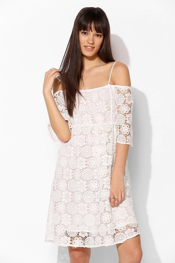 Little White Lies White Crochet Off-the-Shoulder Dress