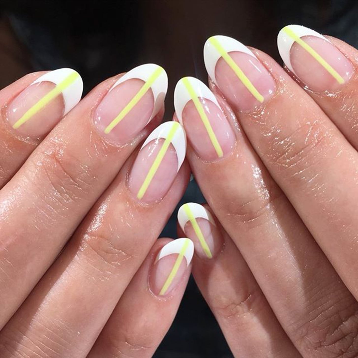 Deep French Manicure Trend Popsugar Beauty