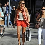 Stacy Keibler was all smiles as she spent the day in Lake Como.