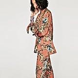 Zara Flowing Floral-Print Jacket