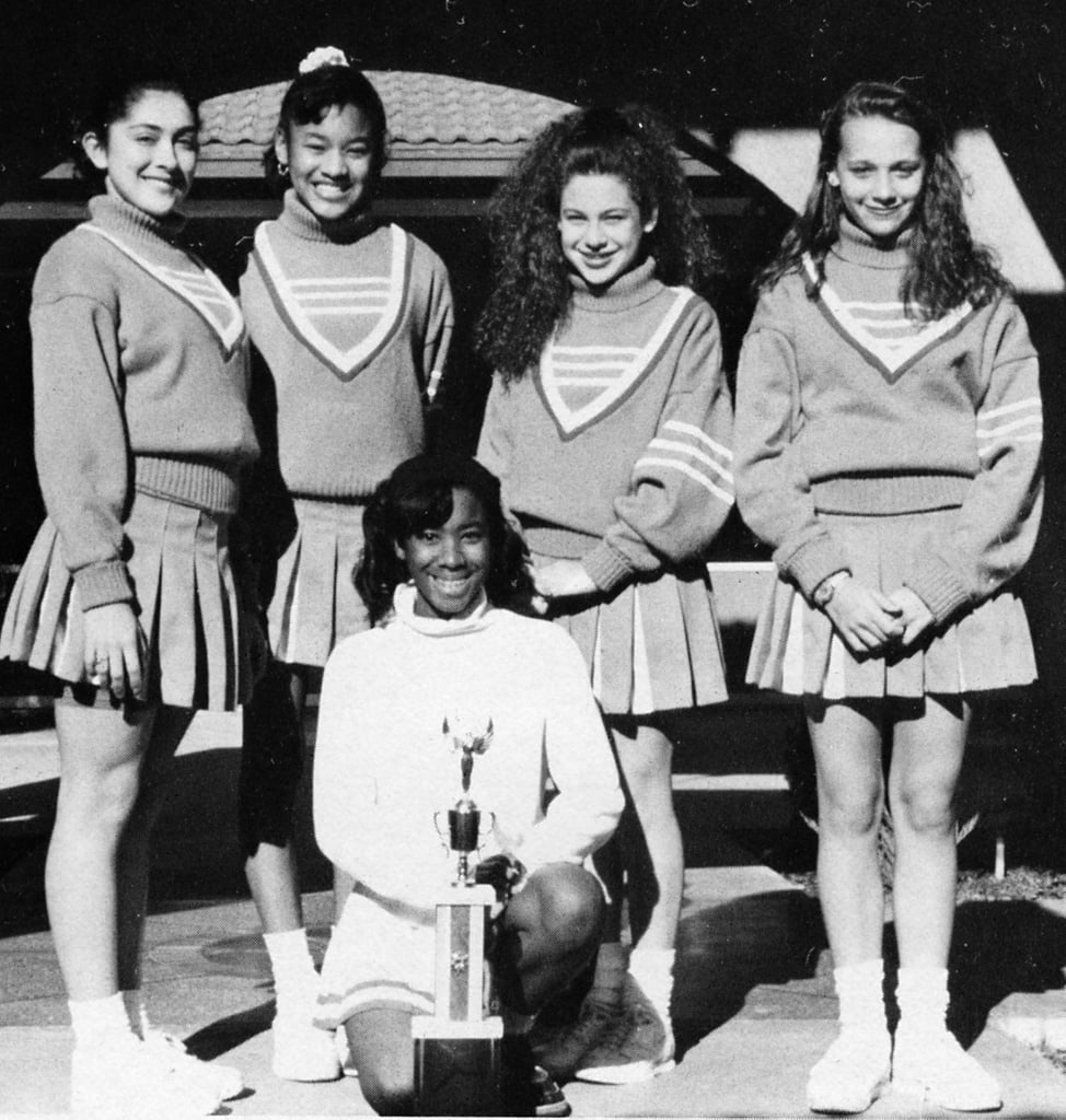 Rashida Jones donned a uniform with classmates.