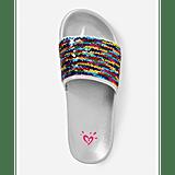 Justice Flip Sequin Slide Sandals