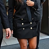 Kim sported a structured blazer dress while out and about in 2012 in New York City.