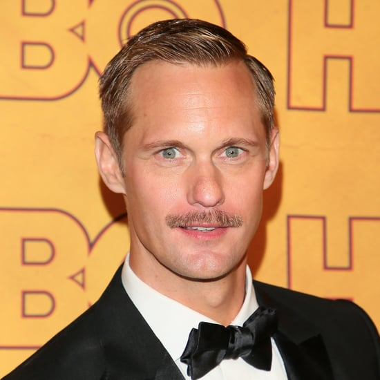 Alexander Skarsgard's Moustache at the 2017 Emmy Awards
