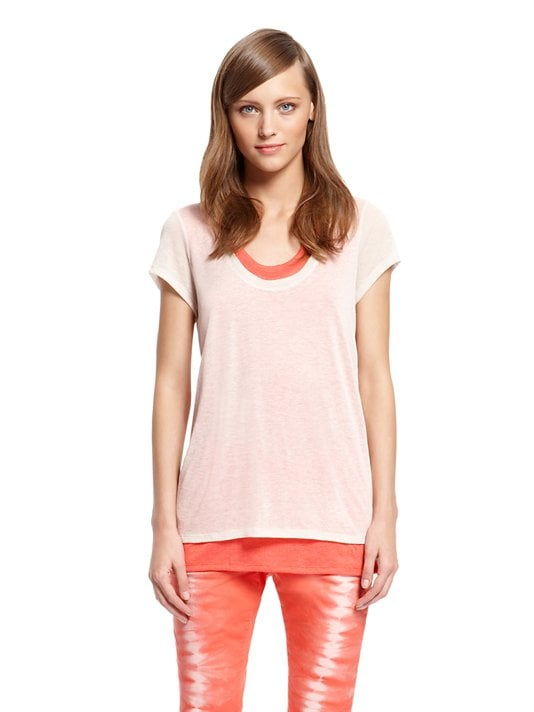 The beauty of this DKNY Jeans Sheer Double Layer Top ($50) is that it basically does your layering for you. Just add jeans or printed trousers.