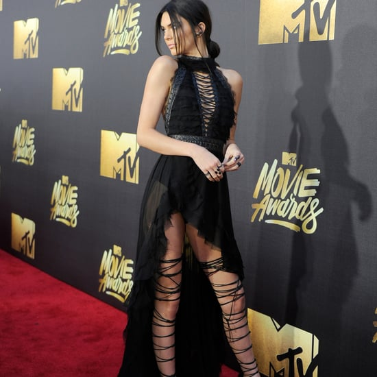 Kendall Jenner's Laced Heels MTV Movie Awards 2016 (Video)