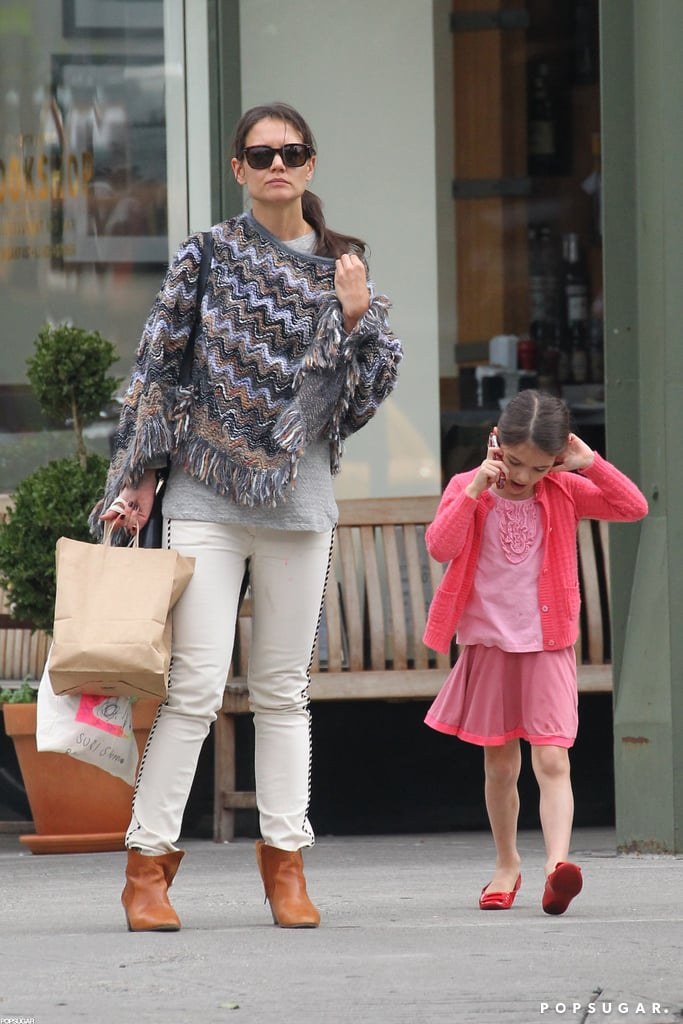 Katie Holmes and Suri Cruise headed out in Manhattan.