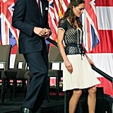 Prince William and Kate Middleton at a ServiceNation: Mission Serve event in LA.