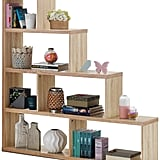 Tangkula 4-Shelf Ladder Corner Bookshelf