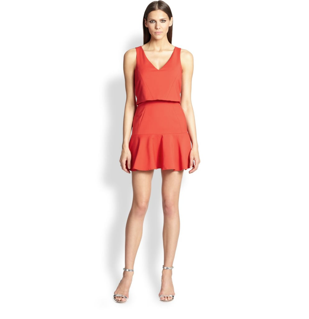 Black Halo Red Overlay Dress