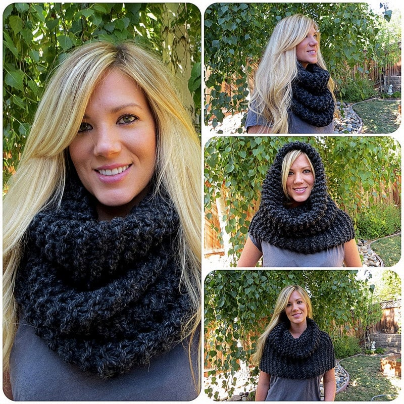 Oversized Knitted Chunky Cowl Scarf Wrap ($50)