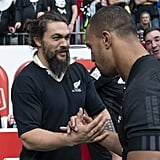 Jason Momoa at Rugby Match in Canada March 2019