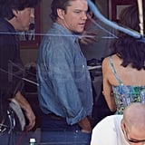 Matt Damon Stays Focused on Food and His Latest Film