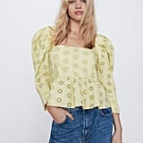 Zara Openwork Embroidered Top