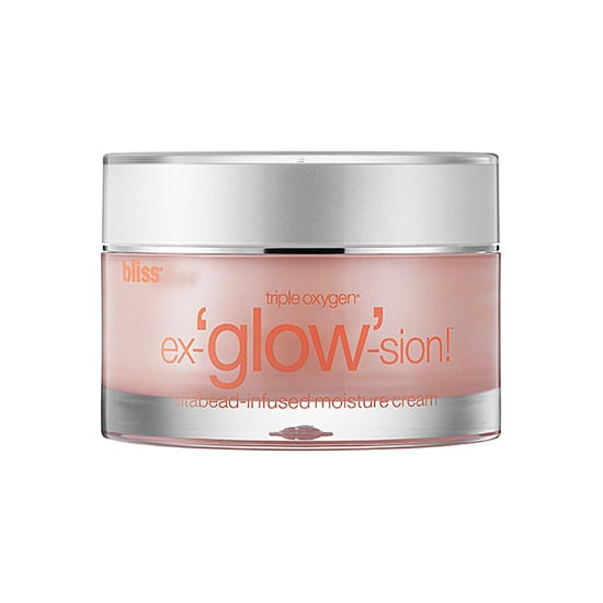 Even though Fall has just begun, my skin is already feeling dry. Oxygen facials have been a celeb-loved treatment for years, and you can mimic the brightening results with the Bliss Triple Oxygen Ex-glow-sion Moisturizer ($64). The formula contains microalgae, vitamin E, vitamin C, and triple oxygen to give you a spa-like treatment overnight.  — JC