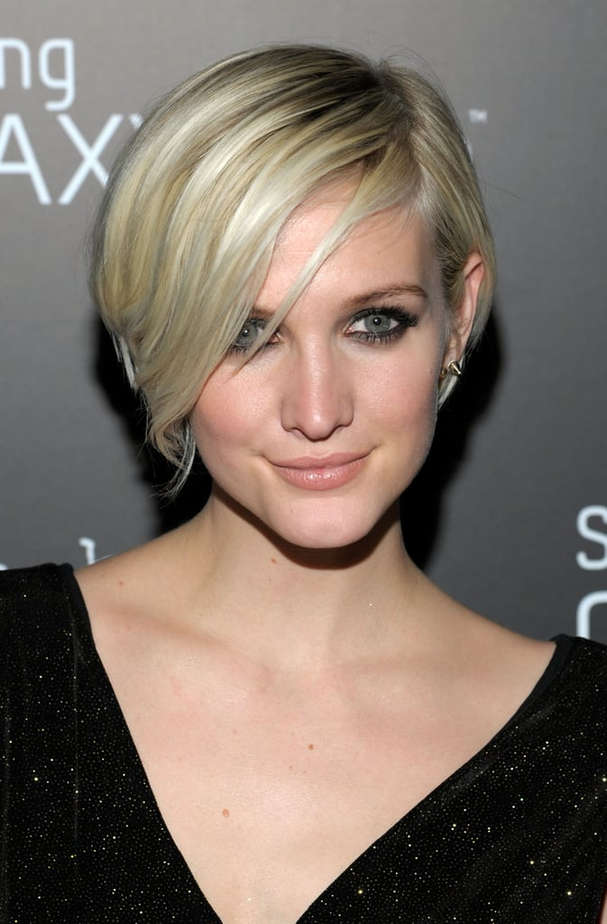 Ashlee Simpson was one of the more notable celebrities to chop her platinum hair into a pixie, which flattered her heart-shaped face beautifully.