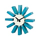 Blue Block Clock ($95)