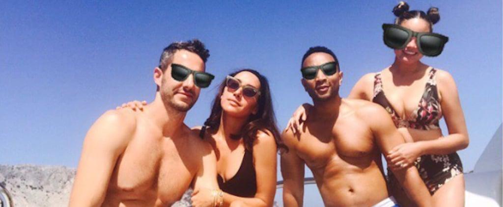 Chrissy Teigen's Low-Cut Bikini Will Hold Your Gaze —Until You Buy It