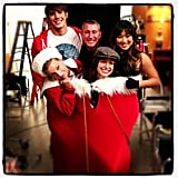 The stars of Glee got into the holiday spirit. Source: Instagram user adamshankman