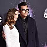 Sarah Levy and Dan Levy at the 2019 American Music Awards