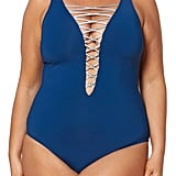 Bleu Rod Beattie Lattice One-Piece Swimsuit