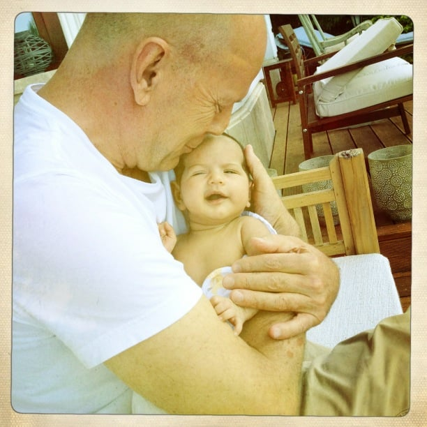 Bruce Willis became a fourth-time dad to baby girl Mabel Ray in April 2012.