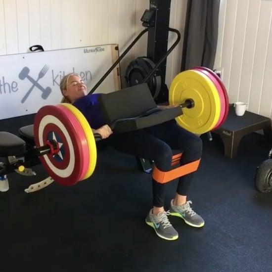 Kate Upton Doing 225-Pound Hip Thrusts