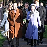 Britain's royal family arrived for the Christmas Day 2004 service at a Sandringham church in Norfolk, England.