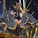 "During her concert in May, Taylor briefly opened up about her feud with Kim and Kanye and how she learned to embrace her snake image and turn it into something positive. ""I wanted to send a message to you guys that if someone uses name-calling to bully you on social media, and even if a lot of people jump on board with it, that doesn't have to defeat you,"" she told her fans. ""It can strengthen you instead."" Ugh, her mind."