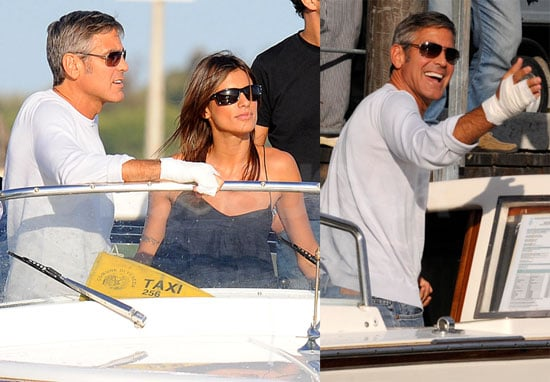 Photos of George Clooney Arriving in Venice
