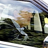 George's grandfather Michael Middleton arrived at Kensington Palace.